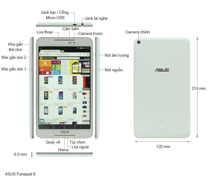 FE380 chiếc tablet 8 inch sành điệu cho giới trẻ - 44039