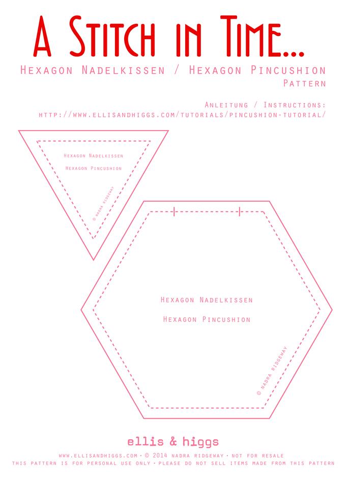 Hexagon Nadelkissen / Pincushion Tutorial