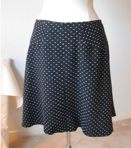 black dot skirt front