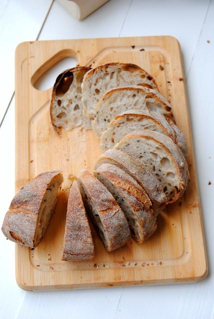 Sourdough bread with preferment