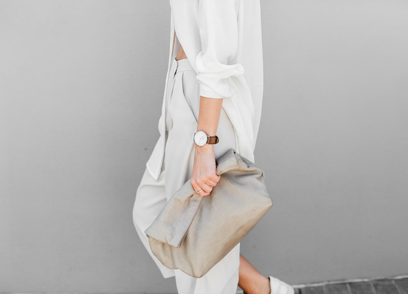 modern legacy fashion blog Australia street style neutrals BC Saba culottes Mode Collective Lunchy leather clutch white leather trainers (3 of 7)