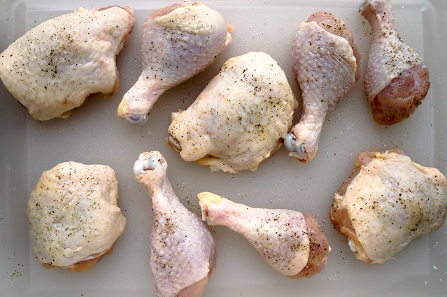 seasoned chicken parts