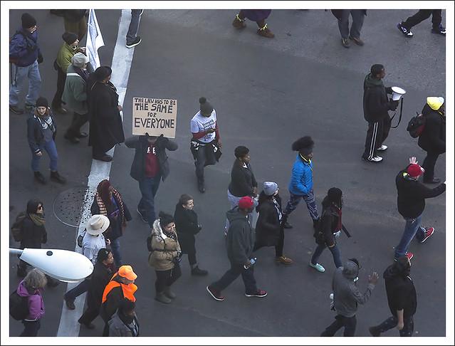 Protesters Close I 70 2014-11-25 5