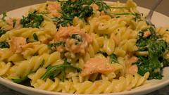 Pasta-salmon-rocket