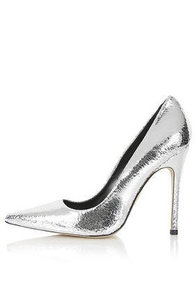 topshop gallop metallic court shoe