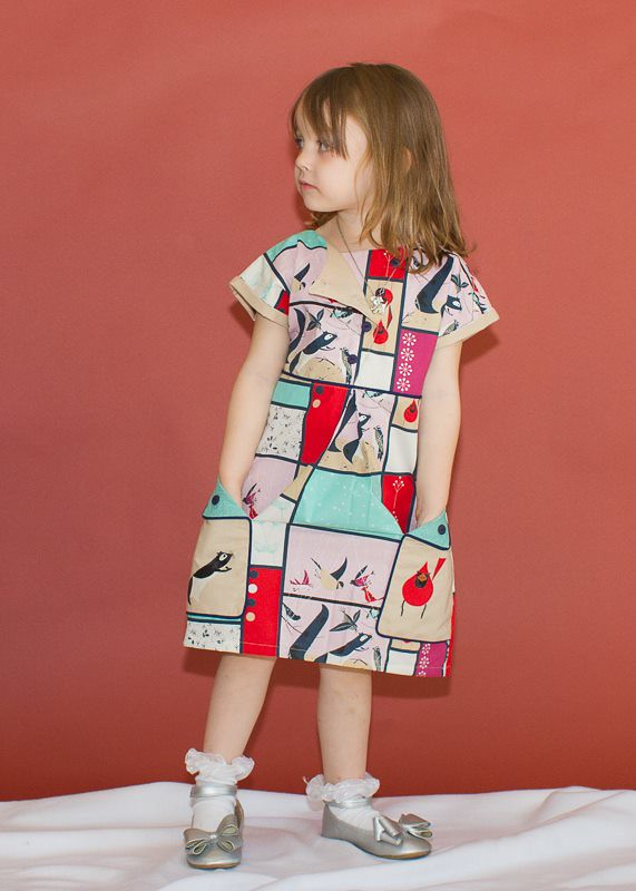 Modkid London Dress in Charley Harper for Birch Fabrics