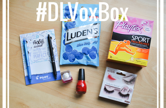 voxbox, influenster, ludens, blue raspberry, kiss eyelashes, tampons, softlips cube, sinful colors, no text red, free stuff