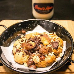 SCOUT'S HONOR by Chef Miko Aspiras is a one-of-a-kind Cookie Craft Bar concept with a Make-your-own-cookie at Hole in the Wall @CenturyMallPH. We love our creation of Molasses Oatmeal mixed with the Basic Chewy cookie dough, topped with Dark Chocolate (a