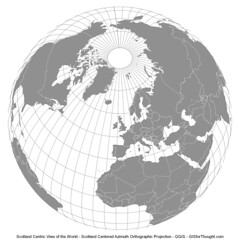 QGIS Azimuth Orthographic Projections
