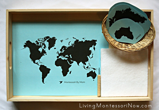 Continents Map Punching Tray
