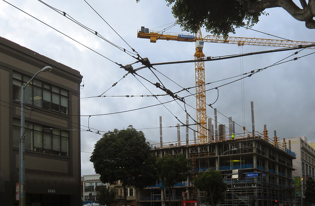 construction at 8th and Mission; Downtown San Francisco (2014)