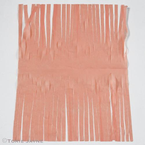 Tissue paper tassel garland tutorial 5