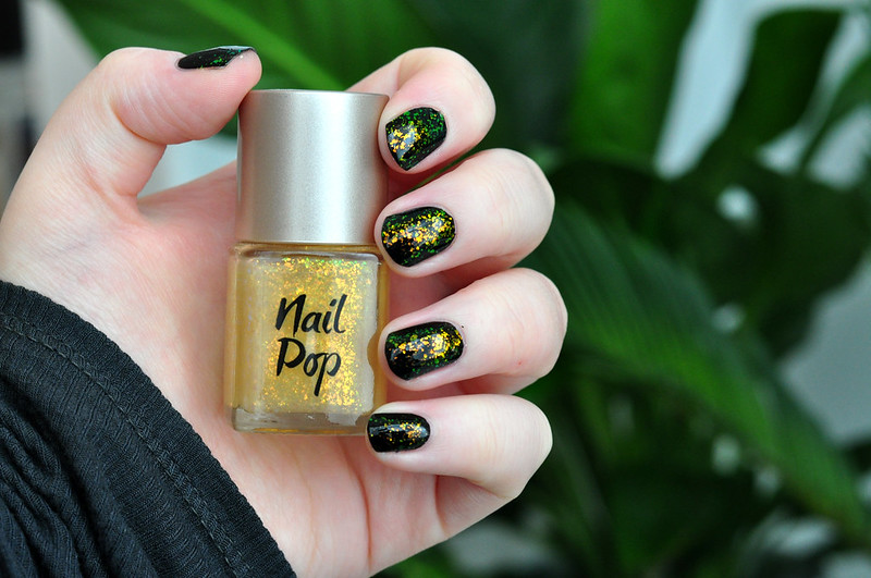 notd look beauty sequin effect nail polish rottenotter rotten otter blog