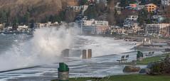 Waves Crashing Along Alki