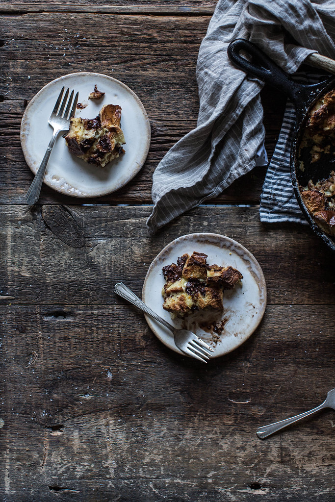Dark Chocolate & Orange Bread Pudding