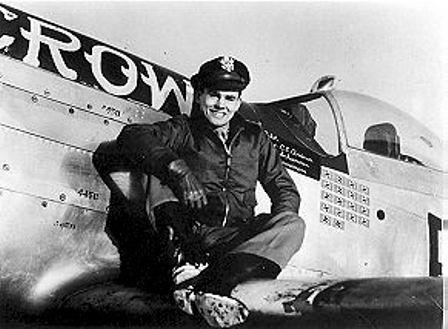 Bud Anderson en su P-51 Old Crow