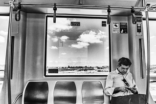 Clouds in the subway
