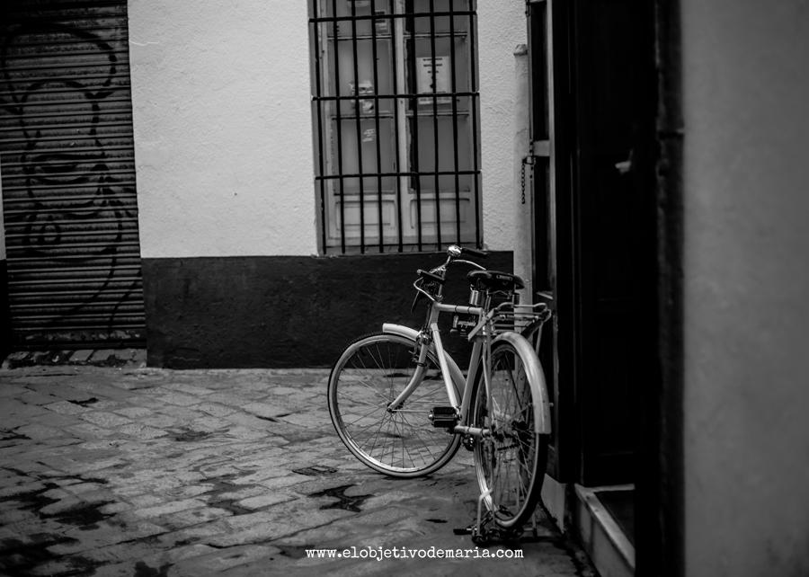 Biccleta en calles de Sevilla