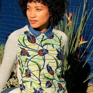 sewing beginner african fabric sweatshirt shirt DIY
