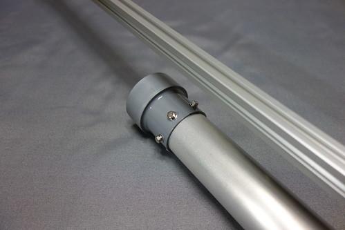 astronomical telescope_3 自作の天体望遠鏡の写真。接眼筒の先端を写したもの。アルミパイプに塩ビ管のソケットを取り付けてある。