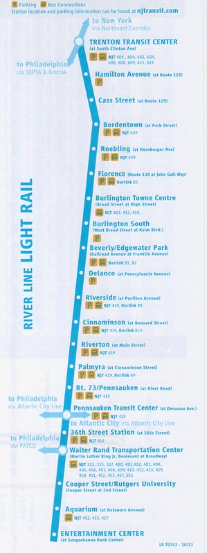 NJ Transit River LINE 10-13 Map