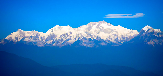 Kanchenjunga in the eyes of artist