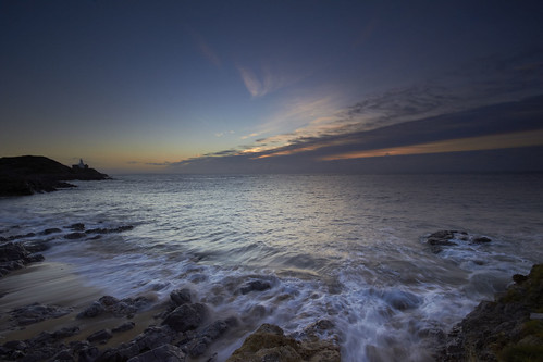 sea water wales clouds sunrise rocks waves