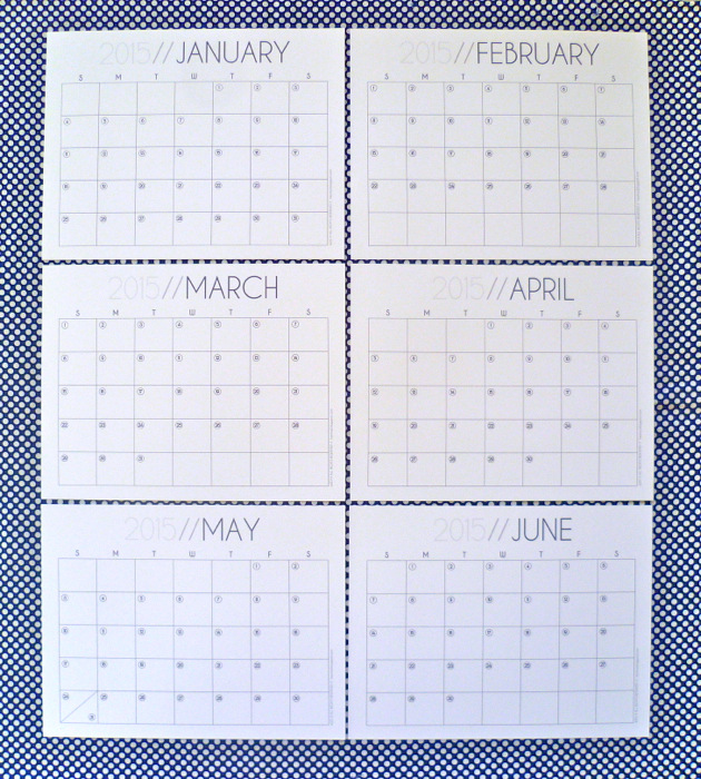 2015 Monthly Calendar Free Printable by Hey, it's SJ pt 1