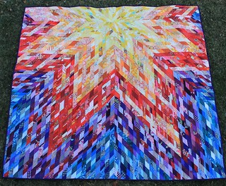 Really Scrappy Lone Star Rainbow Quilt
