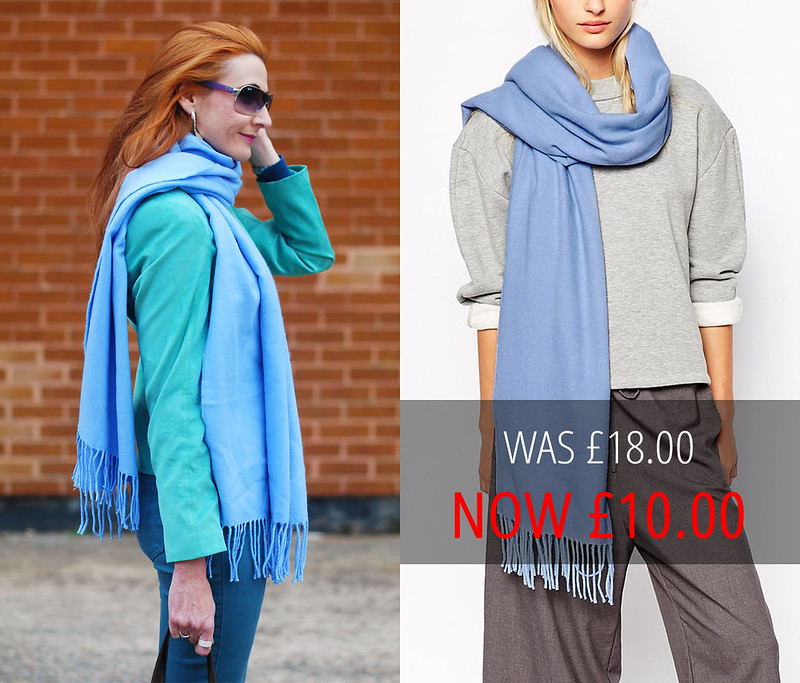 Sale: Monki Blue Milla Blanket Scarf (Asos)