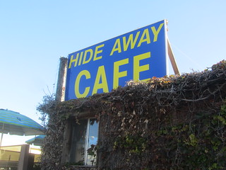 Hide Away Cafe Sign