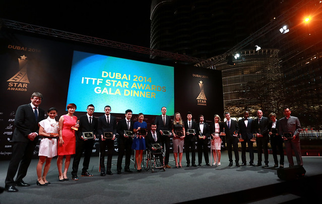 DUBAI 2014 ITTF Star Awards