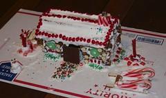 not quite a Ginger Bread house - a pretzel log hou…