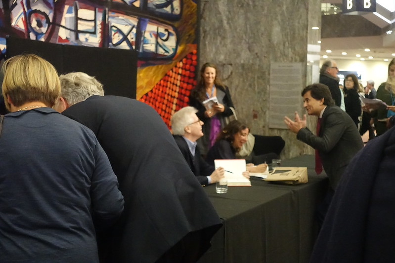 Thomas Mallon at the signing desk
