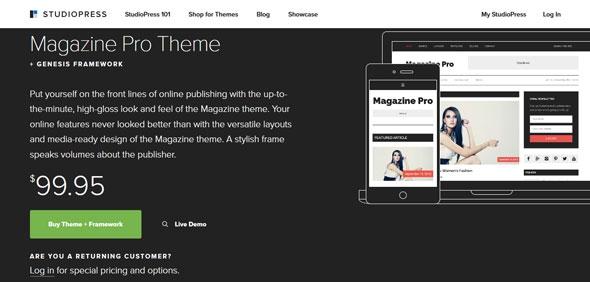 StudioPress - Magazine Pro Theme v3.1 + Genesis Framework v2.2.6