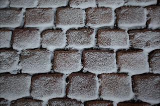 Imageof Aarhus Cathedral. canonef1635mmf28lusm canoneos5dmkii dk danemark danmark denmark geotagged lightrom:exposure=125 neige pattern snow motif pavé sett