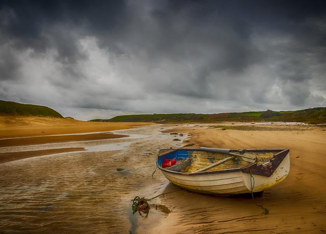 Storm at Aberffraw.