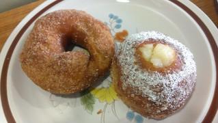 Cinnamon Sugar and Lemon Curd Stuffed Sourdough Doughnuts at Crumbs