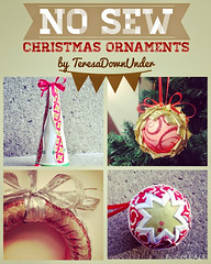 Now sew Christmas ornaments