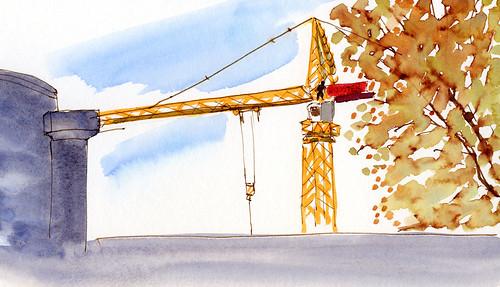 10-29-14 crane from 65th & Roosevelt Starbucks