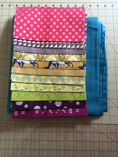 fabric pull for Half Moon Bay Quilt