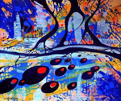 """MISTERO"", crylic on canvas, 60x50 cm"