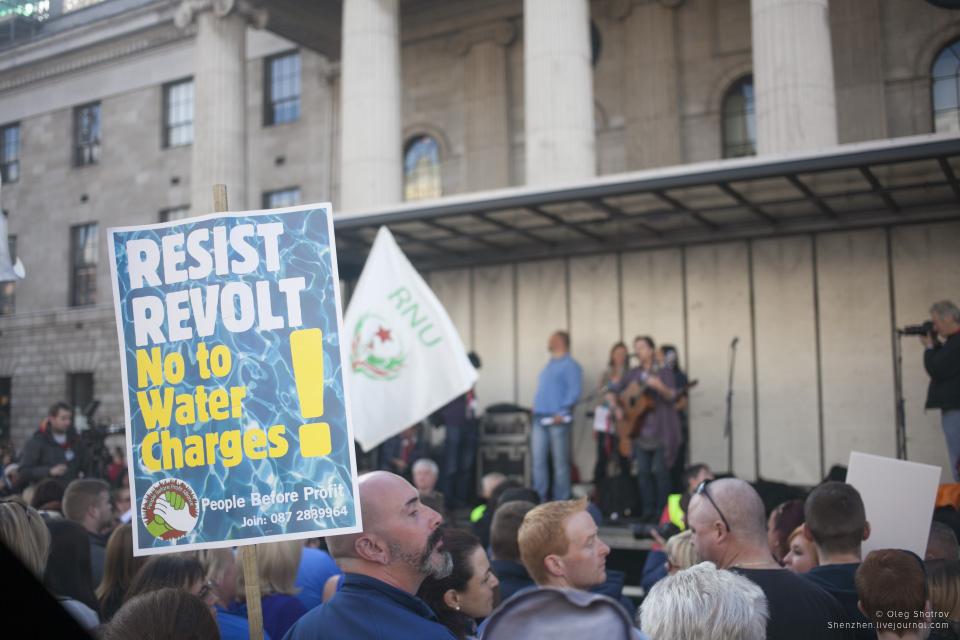 Dublin water resist revolt