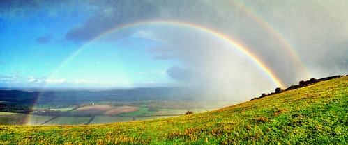Rainbows on the South Downs