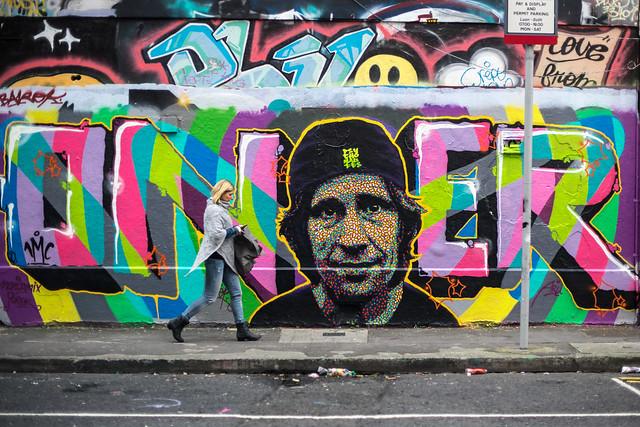 Graffiti in Windmill lane, Dublin, Ireland