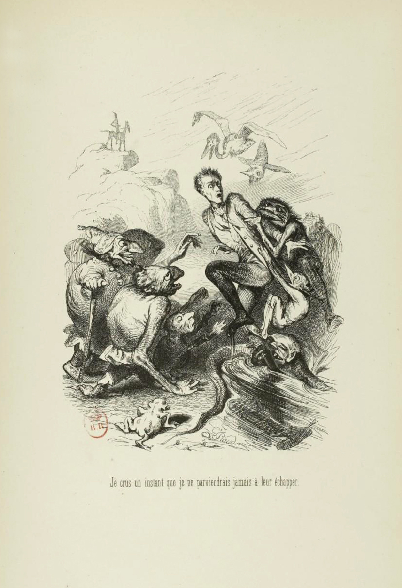 "Tony Johannot - Illustration for ""Voyage où il vous plaira"" by Musset and Stahl (1843) 4"