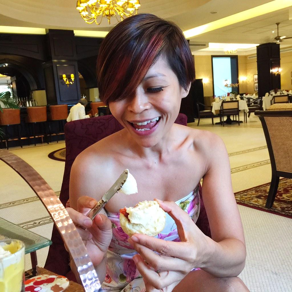 Rebecca SAw - english tea at Majestic Hotel KL