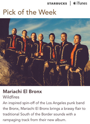 Starbucks iTunes Pick of the Week - Mariachi El Bronx - Wildfires