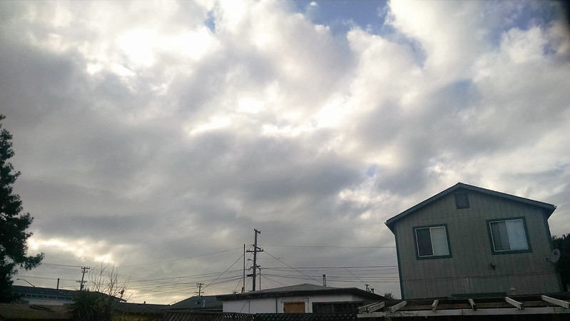 Threatening clouds overhead.