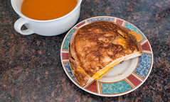 Grilled cheese and tomato group